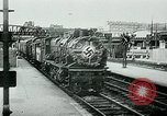 Image of Nazi train and German soldiers arrive at Paris train station Paris France, 1940, second 14 stock footage video 65675072692