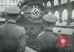 Image of Nazi train and German soldiers arrive at Paris train station Paris France, 1940, second 20 stock footage video 65675072692