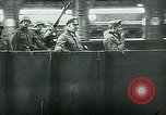 Image of Nazi train and German soldiers arrive at Paris train station Paris France, 1940, second 27 stock footage video 65675072692