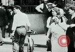 Image of French civilians listen to German propaganda broadcast Paris France, 1940, second 17 stock footage video 65675072694