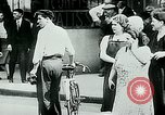 Image of French civilians listen to German propaganda broadcast Paris France, 1940, second 18 stock footage video 65675072694