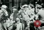 Image of French civilians listen to German propaganda broadcast Paris France, 1940, second 24 stock footage video 65675072694