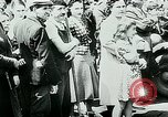 Image of French civilians listen to German propaganda broadcast Paris France, 1940, second 31 stock footage video 65675072694