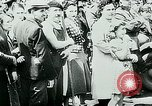 Image of French civilians listen to German propaganda broadcast Paris France, 1940, second 32 stock footage video 65675072694