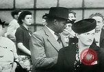 Image of French civilians listen to German propaganda broadcast Paris France, 1940, second 45 stock footage video 65675072694