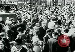 Image of French civilians listen to German propaganda broadcast Paris France, 1940, second 52 stock footage video 65675072694