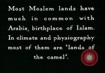 Image of Camels in Muslim lands of  Eurasia and Africa Middle East, 1936, second 49 stock footage video 65675072698