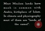 Image of Camels in Muslim lands of  Eurasia and Africa Middle East, 1936, second 50 stock footage video 65675072698