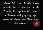 Image of Camels in Muslim lands of  Eurasia and Africa Middle East, 1936, second 53 stock footage video 65675072698