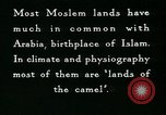 Image of Camels in Muslim lands of  Eurasia and Africa Middle East, 1936, second 54 stock footage video 65675072698