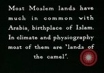 Image of Camels in Muslim lands of  Eurasia and Africa Middle East, 1936, second 56 stock footage video 65675072698