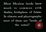 Image of Camels in Muslim lands of  Eurasia and Africa Middle East, 1936, second 57 stock footage video 65675072698