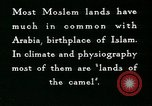 Image of Camels in Muslim lands of  Eurasia and Africa Middle East, 1936, second 58 stock footage video 65675072698