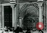 Image of Madrassa Islamic school outside a mosque Middle East, 1936, second 11 stock footage video 65675072701