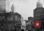 Image of City Hall New York City USA, 1940, second 8 stock footage video 65675072762