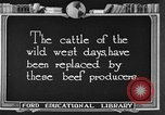 Image of cattle ranch United States USA, 1922, second 1 stock footage video 65675072785
