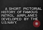 Image of Felixstowe F5L Flying Patrol Boats United States USA, 1917, second 9 stock footage video 65675072804