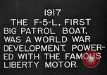 Image of Felixstowe F5L Flying Patrol Boats United States USA, 1917, second 15 stock footage video 65675072804