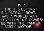 Image of Felixstowe F5L Flying Patrol Boats United States USA, 1917, second 26 stock footage video 65675072804
