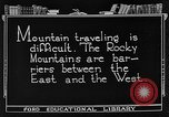Image of Rocky mountains Rocky Mountains United States USA, 1922, second 1 stock footage video 65675072885