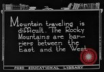 Image of Rocky mountains Rocky Mountains United States USA, 1922, second 2 stock footage video 65675072885