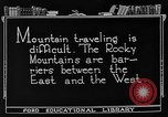 Image of Rocky mountains Rocky Mountains United States USA, 1922, second 3 stock footage video 65675072885