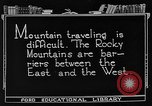 Image of Rocky mountains Rocky Mountains United States USA, 1922, second 4 stock footage video 65675072885