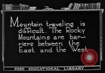 Image of Rocky mountains Rocky Mountains United States USA, 1922, second 5 stock footage video 65675072885
