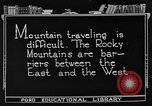 Image of Rocky mountains Rocky Mountains United States USA, 1922, second 7 stock footage video 65675072885