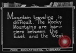 Image of Rocky mountains Rocky Mountains United States USA, 1922, second 8 stock footage video 65675072885