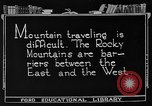 Image of Rocky mountains Rocky Mountains United States USA, 1922, second 9 stock footage video 65675072885