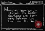 Image of Rocky mountains Rocky Mountains United States USA, 1922, second 10 stock footage video 65675072885