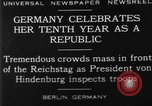Image of 10th Republic Day celebration Berlin Germany, 1929, second 1 stock footage video 65675072928