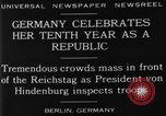 Image of 10th Republic Day celebration Berlin Germany, 1929, second 6 stock footage video 65675072928
