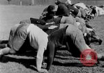 Image of football practice San Francisco California USA, 1929, second 44 stock footage video 65675072933