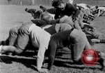 Image of football practice San Francisco California USA, 1929, second 45 stock footage video 65675072933