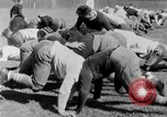 Image of football practice San Francisco California USA, 1929, second 49 stock footage video 65675072933