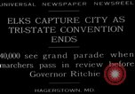 Image of grand parade Hagerstown Maryland USA, 1929, second 3 stock footage video 65675072934