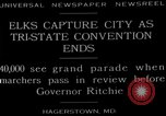 Image of grand parade Hagerstown Maryland USA, 1929, second 4 stock footage video 65675072934