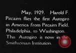 Image of Pitcairn autogyro Washington DC USA, 1929, second 2 stock footage video 65675072957
