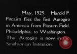 Image of Pitcairn autogyro Washington DC USA, 1929, second 4 stock footage video 65675072957
