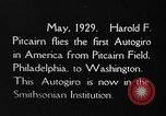 Image of Pitcairn autogyro Washington DC USA, 1929, second 5 stock footage video 65675072957