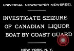 Image of Coast Guard officials New York United States USA, 1931, second 7 stock footage video 65675072967