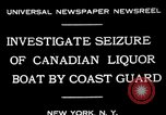 Image of Coast Guard officials New York United States USA, 1931, second 9 stock footage video 65675072967