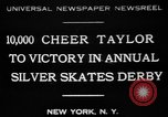 Image of Silver Skates Derby Manhattan New York City USA, 1931, second 1 stock footage video 65675072974