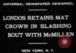 Image of wrestling match New York United States USA, 1931, second 4 stock footage video 65675072976