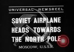 Image of Russian aviators depart Moscow in flight to North Pole Moscow Russia Soviet Union, 1937, second 1 stock footage video 65675073020