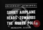 Image of Russian aviators depart Moscow in flight to North Pole Moscow Russia Soviet Union, 1937, second 4 stock footage video 65675073020