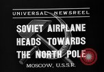 Image of Russian aviators depart Moscow in flight to North Pole Moscow Russia Soviet Union, 1937, second 5 stock footage video 65675073020