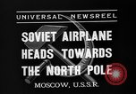 Image of Russian aviators depart Moscow in flight to North Pole Moscow Russia Soviet Union, 1937, second 10 stock footage video 65675073020